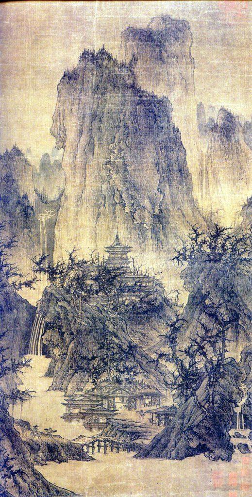 Shan Shui scroll painting